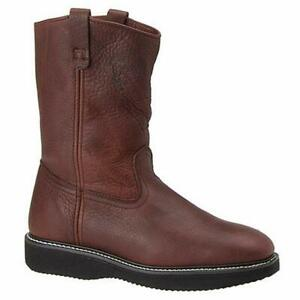 Fin-amp-Feather-Mens-Wellington-11-034-Leather-Round-Toe-Mid-Calf-Brown-Size-9-0-6W