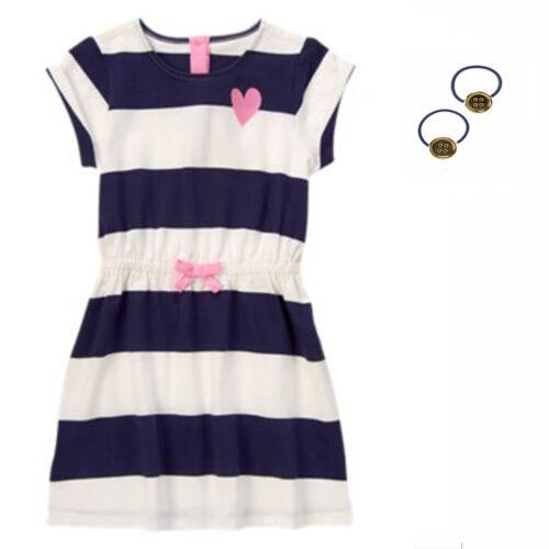 Gymboree Hop n Roll Striped  Dress /& Hair Accessory Set 4 8 NWT Retail Store