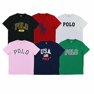 Polo-Ralph-Lauren-Mens-Graphic-T-Shirt-Short-Sleeve-Crew-Neck-Tee-Prl-New-Nwt