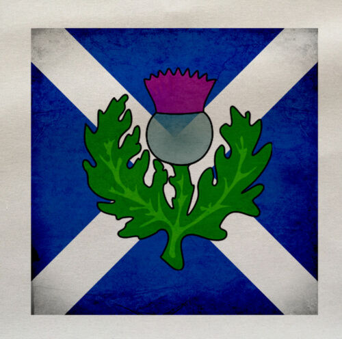 Scottish Flag Thistle Printed Fabric Panel Make A Cushion Upholstery Craft