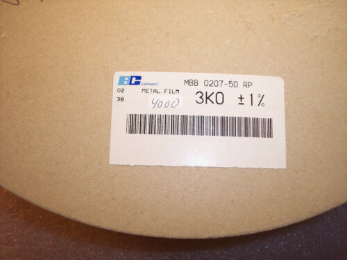 QTY 3K Ohm .6W 1/% PROFESSIONAL THIN FILM METAL FILM  MBB0207-50-3K0-1/% BC 100