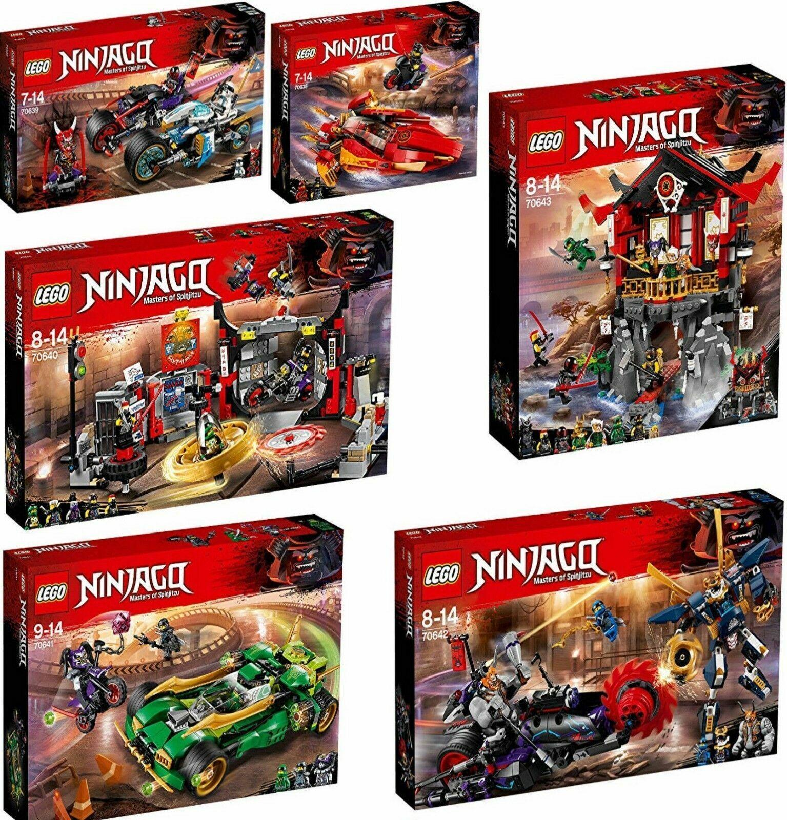 Lego ® Ninjago ® 70638-70643   Motorcycle Gang 6 Piece Set  all ONI MASK nouveau OVP  forme unique