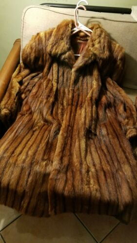 mink fur coat knee lenght