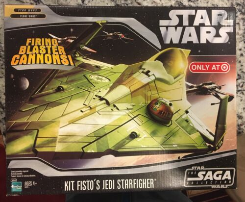 2x MISB  MIB Star Wars Saga Collection Kit Fisto/'s Jedi Starfighter Target