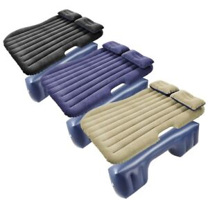 Universal-Inflatable-Mattress-Car-Air-Bed-Travel-Camping-Seat-Cushion-w-Pillows