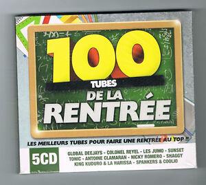 100-TUBES-DE-LA-RENTREE-5-CD-SET-2012-NEUF-NEW-NEU