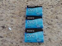 Sony Digital Video Cassette Dvc Premium 60 Min Lot Of 3