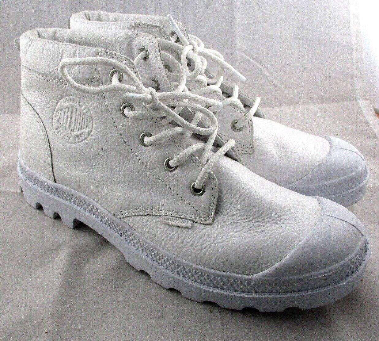 Femme PALLADIUM Leather PAMPA Low Bottes SNEAKER Blanc