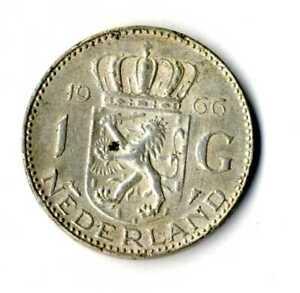 Moneda-Holanda-1966-1-Florin-Juliana-plata-0-720-silver-coin-Nederland