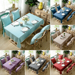 Linen-Tablecloth-Table-Covers-Rectangle-Dinning-Kitchen-Wedding-Banquet-Decor