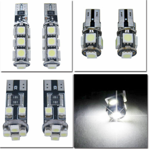 4//8x LED Side Light Bulb Super Bright Canbus T10 501 W5W 13 SMD Cool White Lamp