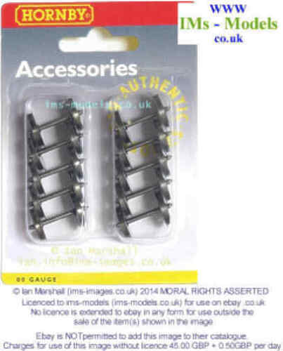 NEW 10 pack Coach // Wagon Hornby OO replacement Couplers // Metal wheels
