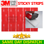 miniature 2 - 3M™ Double Sided Sticky Pad Strips, Strong Heavy Duty Mounting Adhesive Tape