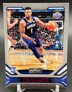 2019-20 Panini Chronicles Playbook Pink Zion Williamson Rookie #244 Pelicans