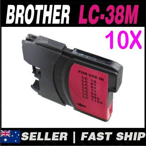 10x Magenta Ink for Brother LC38 DCP185C DCP385C DCP395CN DCP585CW DCPJ715W
