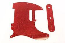 Red Glitter pickguard + control plate set Fits Fender Tele Telecaster
