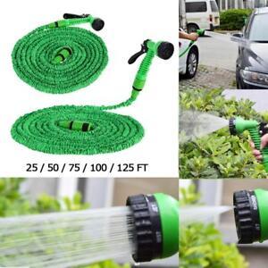 Flexibler-Gartenschlauch-Dehnbarer-Wasserschlauch-Spruehpistole-Bewaesserung-Spray