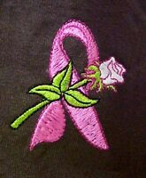 Breast Cancer T-shirt Large Pink Awareness Ribbon Rose Brown S/s Crew Neck