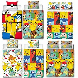 Official-Pokemon-Licensed-Duvet-Covers-Single-Double-Pikachu-Bedding-Gaming