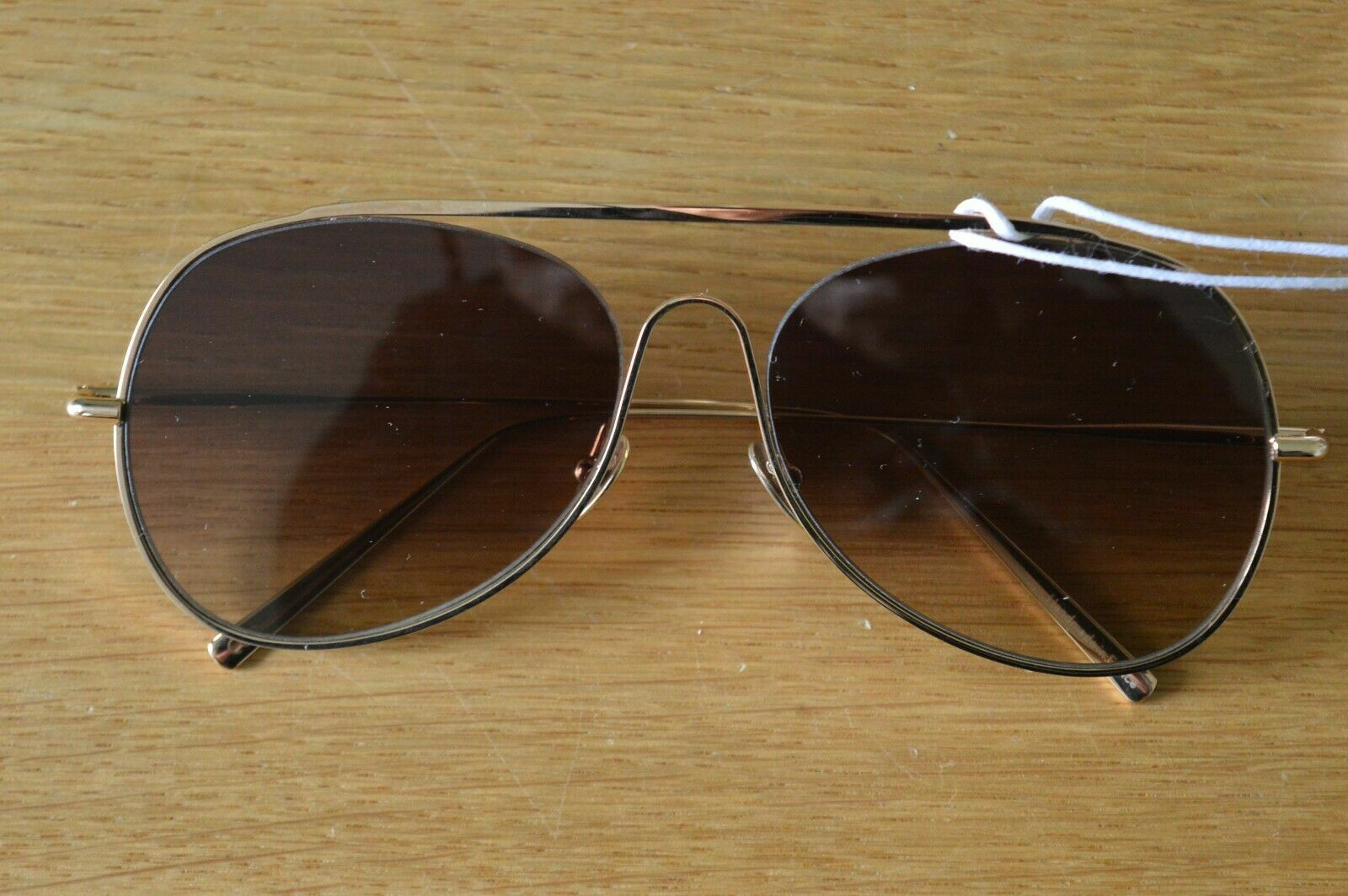 *STUNNING* ACNE Studios Ladies Spitfire Flying Sunglasses Brown / Gold LARGE