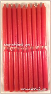 """Lot of 18 x 6"""" Taper Spell Candles: RED (Pagan Wicca Altar Ritual Household)"""