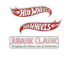 2 Genuine GM Hot Wheels Emblems Fender Body Red Chrome OEM NOS Ford