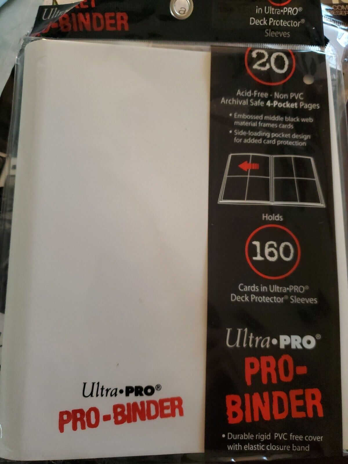 Ultra Pro PRO-Binder White 4-Pocket
