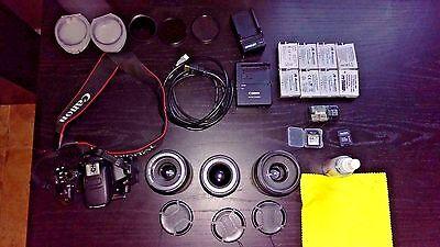 Canon EOS Rebel T5i DSLR Camera w/ Multiple Lenses - FANTASTIC KIT, GREAT DEAL!