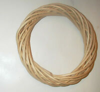 Raw Unfinished Wicker Wreath 9 Dia. Craft Plain Rustic Natural Decor Free Ship