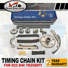 Timing Chain Kit for Nissan Navara D22 D40 2.5L TD YD25DDTI 4CYL DOHC 2006-2015