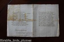 ✒ Manuscrit en GREC et français L'AVARE BON CALCULATEUR 1791 Almanach des muses
