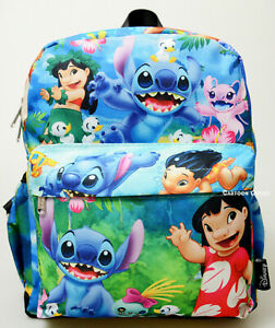 "Disney Lilo and Stitch Purse Backpack Mini 12"" Bag All Over Art Print B-Day Gift"