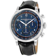 Baume & Mercier Capeland Blue Dial Leather Strap Men's Watch M0A10065