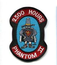 McDONNELL F-4 F-4G PHANTOM 2500 FLIGHT HOURS USAF TFS Fighter Squadron Patch