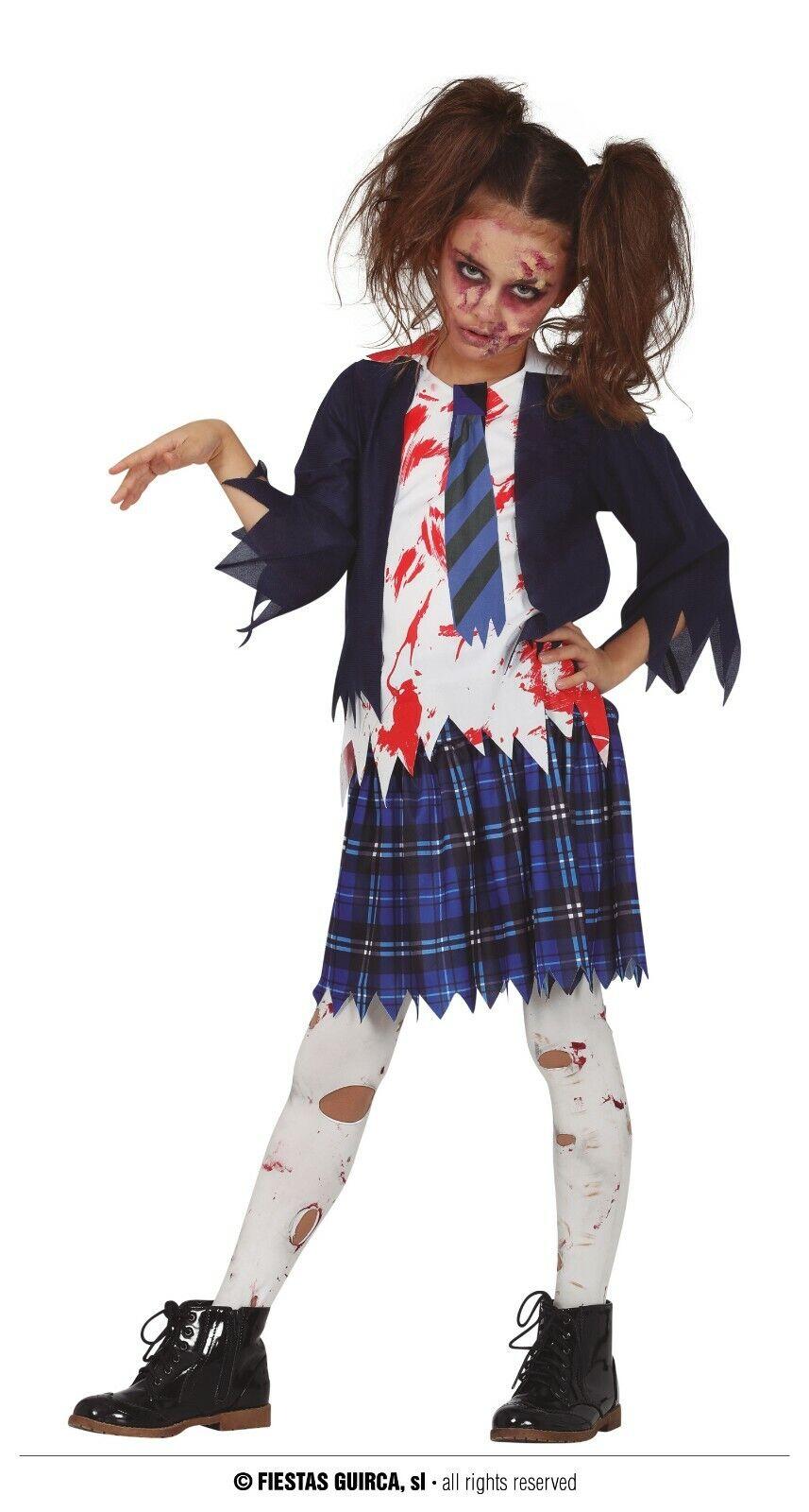 Fiestas Guirca Zombie High School Girl Zombie Schoolgirl Halloween Age 10-12