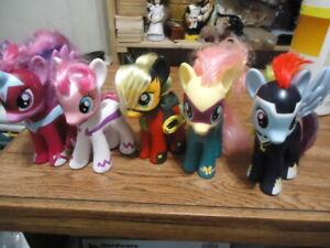 MY LITTLE PONY POWER PONIES 2010 TARGET EXCLUSIVE MLP Lot of 5 Ponies