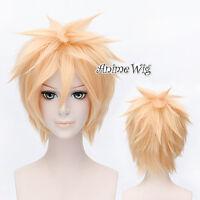 VOCALOID Kagamine Len Light Yellow Blond Fancy Short Cosplay Wig Anime Hair Wigs