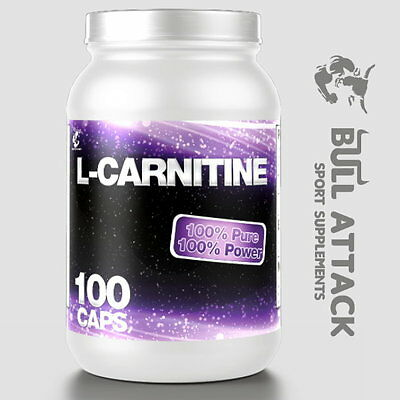 100 Kapseln L-Carnitin á 500mg Fatburner Fettreduktion Carnitine + Bonus