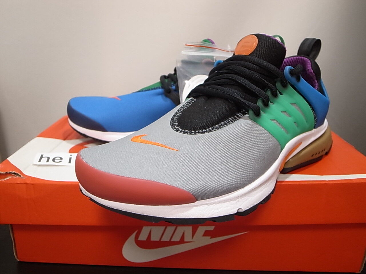 2016 NIKE AIR PRESTO QS GREEDY BEAMS WHAT 8 THE MULTI-COLOR 886043-400 size 8 WHAT 2a7c6d