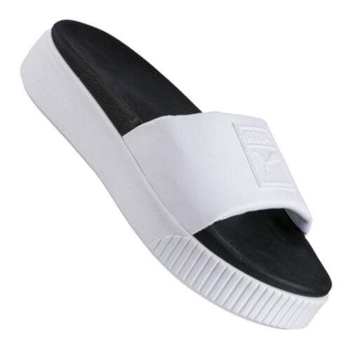 F01 Platform Bianco Nero Donna Slide Puma xRSwXx
