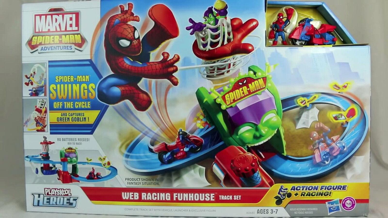 Playskool Heroes Marvel Spider-Man Adventures Web Racing Funhouse Play Set