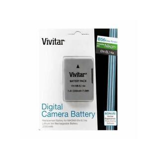Vivitar-EN-EL14a-2300mAh-Battery-for-Nikon-D5500-D5300-D5200-D5100-D3400-D3300
