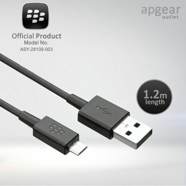 Genuine BlackBerry USB Data Cable CHARGER For Q10 Z10 Micro Q5 PlayBook BLACK