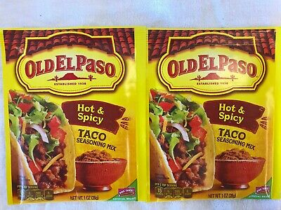 Old El Paso Hot Spicy Taco Seasoning Mix Lot Of 2 Best By 7 30 16 Free Ship Ebay