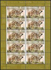 Tierkinder WILDSCHWEIN – 85 Cent – postfrisch – Zehnerbogen –  Mi.Nr. 3289
