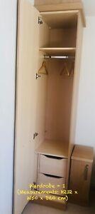Hammonds Fitted Bedroom Wardrobes 3 Single Door Wardrobes Ebay