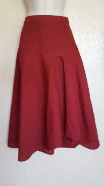 New Soft Surroundings Women Zip Around Skirt Garnet Size XS