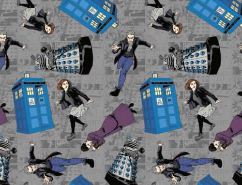 FAT QUARTER  DOCTOR WHO CHARACTER 100/% COTTON FABRIC POLICE SPRINGS CREATIVE  FQ