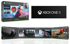 BRAND NEW MICROSOFT XBOX ONE X 1TB GAMES HOME CONSOLE BLACK BUNDLE PAL UK
