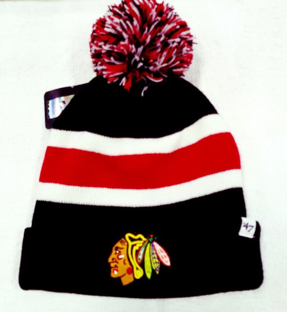 Buy Chicago Blackhawks 47 BRAND NHL Breakaway Knit Hat Beanie Cuff Stocking  Cap Pom online  9d1dca3a890